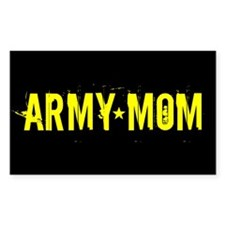 Army Mom: Black and Gold Decal