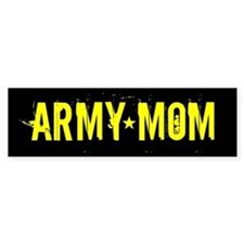 Army Mom: Black and Gold Bumper Sticker