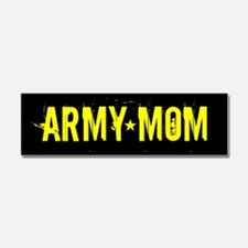 U.S. Army: Mom (Black & Gold) Car Magnet 10 x 3