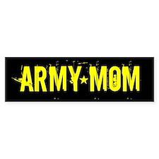 Army Mom: Black and Gold Car Sticker