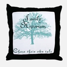 Family Historian Chase Tale Throw Pillow