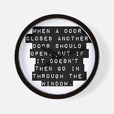 When A Door Closes Wall Clock