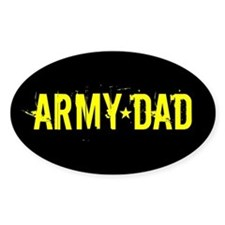 Army Dad: Black and Gold Decal