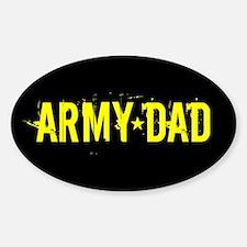 U.S. Army: Dad (Black & Gold) Sticker (Oval)