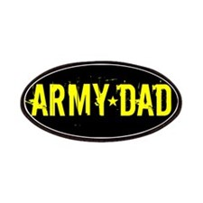 Army Dad: Black and Gold Patches
