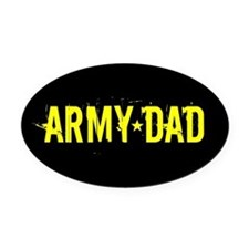 Army Dad: Black and Gold Oval Car Magnet