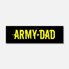 U.S. Army: Dad (Black & Gold) Car Magnet 10 x 3