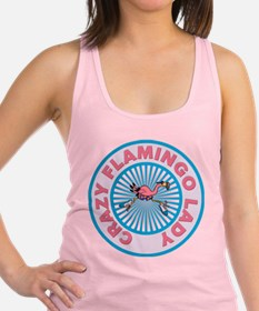 Crazy Flamingo Lady Racerback Tank Top