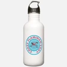 Crazy Flamingo Lady Water Bottle