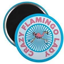 Crazy Flamingo Lady Magnet