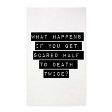 What Happens If You Get Scared 3'x5' Area Rug