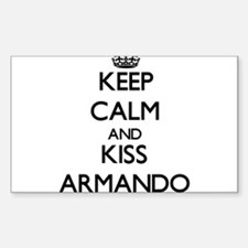Keep Calm and Kiss Armando Decal