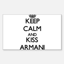 Keep Calm and Kiss Armani Decal