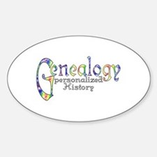 Genealogy Personalized White Center Decal