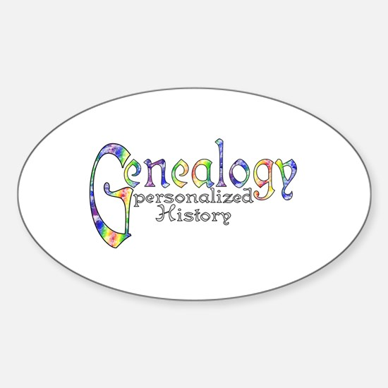 Genealogy Personalized White Center Sticker (Oval)