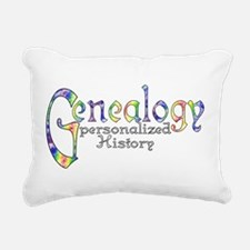 Genealogy Personalized W Rectangular Canvas Pillow
