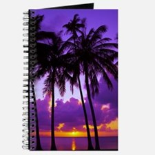 Purple Tropical Sunset 3 Journal