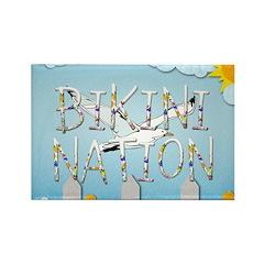 Bikini Nation Rectangle Magnet