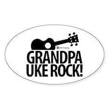 Grandpa Uke Rock! Decal
