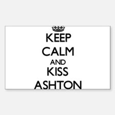 Keep Calm and Kiss Ashton Decal