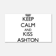 Keep Calm and Kiss Ashton Wall Decal
