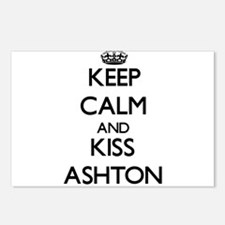 Keep Calm and Kiss Ashton Postcards (Package of 8)