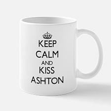 Keep Calm and Kiss Ashton Mugs