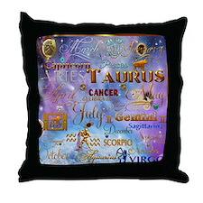 Zodiac Cosmos Throw Pillow