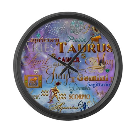 Zodiac Cosmos Large Wall Clock