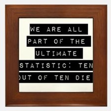 We Are All Part Framed Tile