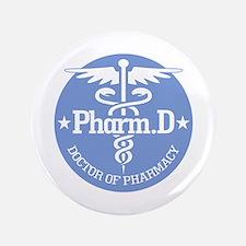 "Caduceus Pharm.D 3.5"" Button"