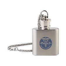 Caduceus Pharm.D Flask Necklace