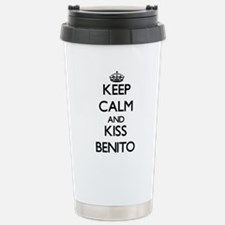 Keep Calm and Kiss Benito Travel Mug