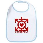 Love Poly Red Bib