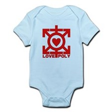 Love Poly Red Infant Bodysuit