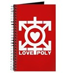 Love Poly Red Journal
