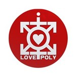 Love Poly Red Ornament (Round)
