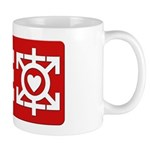 Love Poly Red Mug