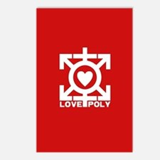 Love Poly Red Postcards (Package of 8)