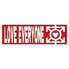 Love Poly Red Bumper Bumper Sticker
