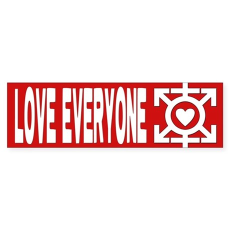 Love Poly Red Bumper Sticker
