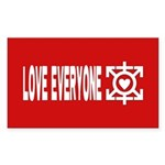 Love Poly Red Rectangle Sticker