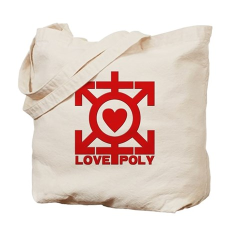 Love Poly Red Tote Bag