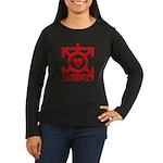 Love Poly Red Women's Long Sleeve Dark T-Shirt