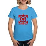 Love Poly Red Women's Dark T-Shirt