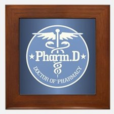 Caduceus Pharm.D Framed Tile