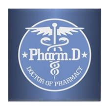 Caduceus Pharm.D Tile Coaster