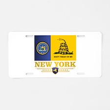 New York Gadsden Flag Aluminum License Plate