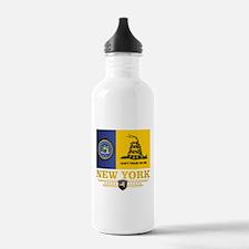 New York Gadsden Flag Water Bottle