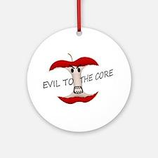 Evil To The Apple Core Ornament (Round)